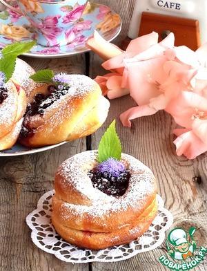 Рецепт Брусничные ватрушки с медовым ароматом
