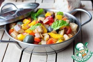 Рецепт Капоната с вялеными брусникой и томатами