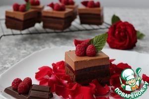 """Рецепт Пирожные """"Шоколадно-малиновое удовольствие"""""""