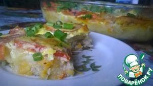 """Рецепт Картофельная запеканка с овощами """"Всё сразу"""""""