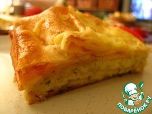 Рецепт Быстрый пирог с сыром и зеленью
