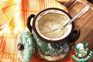 Рецепт Каша из рисовых хлопьев, запеченная в горшочке