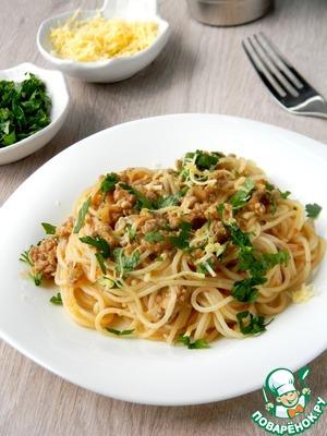 Рецепт Спагетти в перечно-мясном соусе