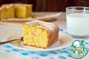 Рецепт Тосканский кукурузный пирог с абрикосами