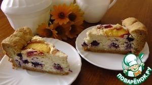 Рецепт Пирог с голубикой и нектарином