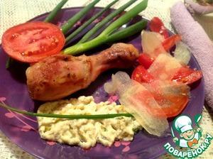 Рецепт Запеченная курица со сливовым соусом