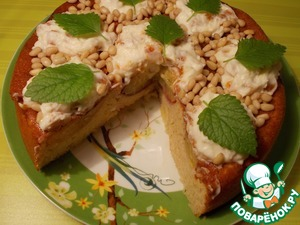 Рецепт Пирог-перевертыш с фаршированными персиками