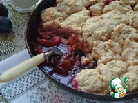 Сливовый пирог с нестандартным исполнением ингредиенты