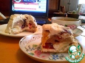 Рецепт Сливово-творожный десерт за 15 минут