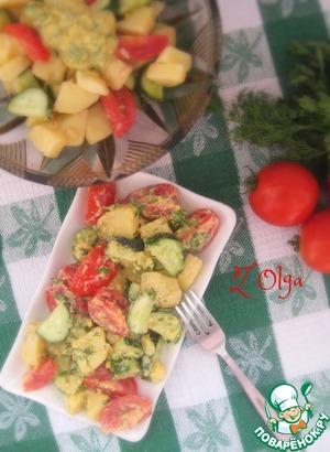 Рецепт Овощной салат с заправкой по-швейцарски