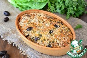 Рецепт Кипрский пирог с маслинами и зеленью