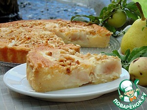 Рецепт Итальянский грушевый пирог с фундуком