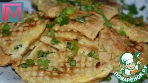 Рецепт Вафельные бризольки с куриным фаршем и сыром