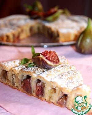 Рецепт Кольцевой пирог с яблоками и инжиром