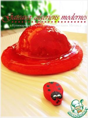 Пирожное с начинкой из карамелизированных персиков (нектаринов)