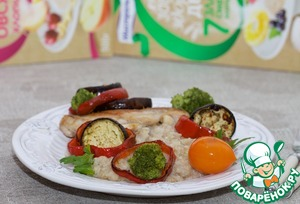 Рецепт Каша с курицей и овощами-гриль