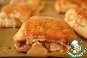Рецепт Яблочные бисквиты с соусом