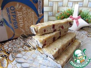 Рецепт Батончики из белого шоколада с отрубями