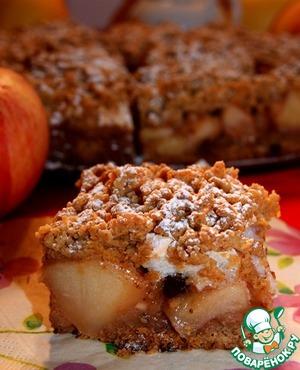 Рецепт Польский яблочно-ореховый пирог
