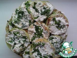 Рецепт Кабачки в сметанно-чесночном соусе