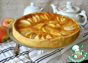Рецепт Яблочный пирог с карамельным кремом