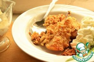 Рецепт Десерт из груш с овсяной корочкой