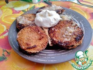 Рецепт Жаренные баклажаны в чесночном кляре