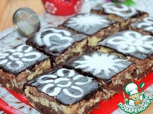 Рецепт Пирожные с творожно-шоколадным кремом в СВЧ