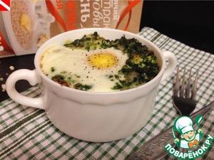 Рецепт Запеканка из гречневых хлопьев со шпинатом