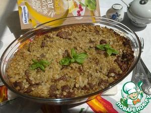 Рецепт Запеканка с геркулесом и тушеным мясом