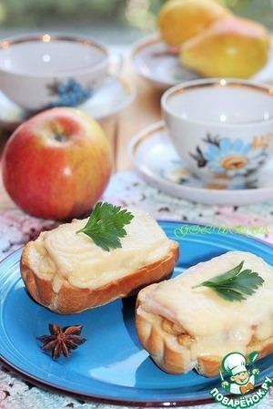 Рецепт Горячие бутерброды с сыром и яблоком