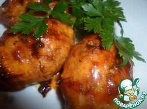 Рецепт Гречаники с начинкой, запеченные в соусе