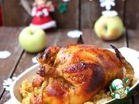Курица, фаршированная пшеном с яблоком ингредиенты