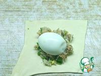 Слоеные пирожки с яйцом ингредиенты