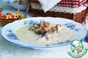 Рецепт Курица с шампиньонами в сметанном соусе