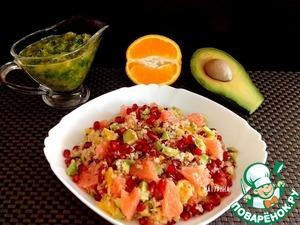Рецепт Зимний цитрусовый салат с киноа