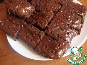 Рецепт Дырявый шоколадный пирог