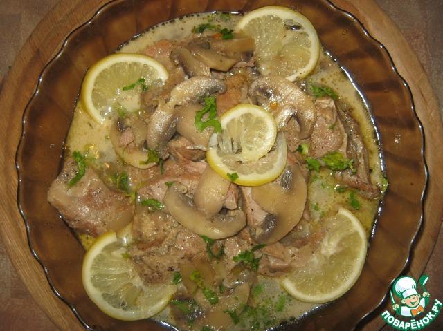 Блюда с шампиньонами рецепты с пошагово