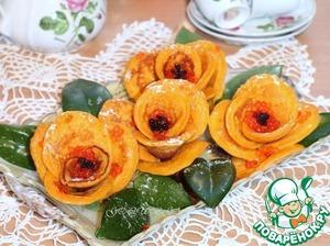Рецепт Блинные розы с морковью