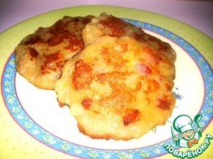 Рецепт Картофельные оладьи с колбаской