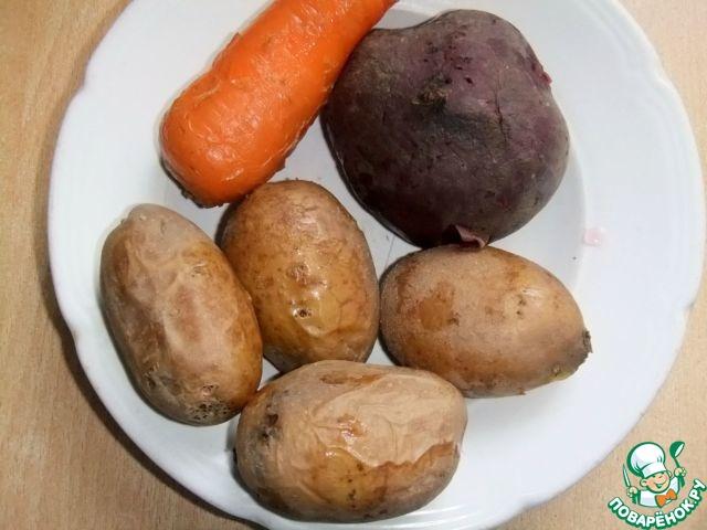 рецепт салат печень трески картофель
