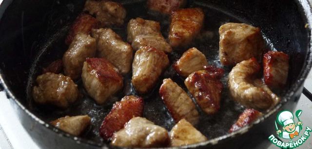 свинина на сковороде с соевым соусом рецепт с фото
