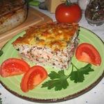 Рисовая запеканка с лососевыми молоками