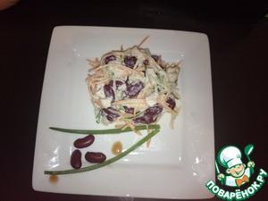 Рецепт Салат с копчёной куриной грудкой и огурцом