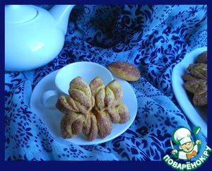 """Рецепт Тыквенно-коричное печенье """"Хризантемы"""""""