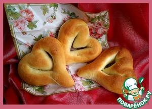 Как готовить Хлебные валентинки домашний пошаговый рецепт с фотографиями