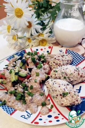 Рецепт Клецки из киноа с салатом и ржаным йогуртом
