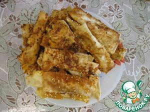 Рецепт Закусочные сырные палочки