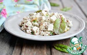 Рецепт Киноа с рисом, миндалем и зеленью