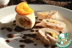 Рецепт Куриные грудки с рисом и мандаринами конфи в какао-соусе